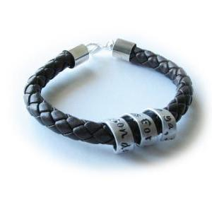 Braided Spiral Leather Bracelet Uni..