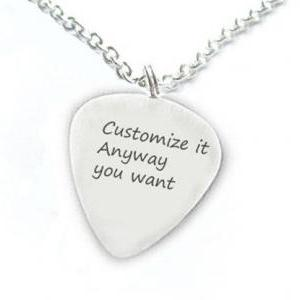 Customize Guitar Pick Necklace Pers..