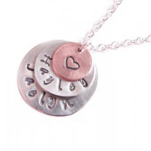 Triple Hand Stamped Necklace Person..