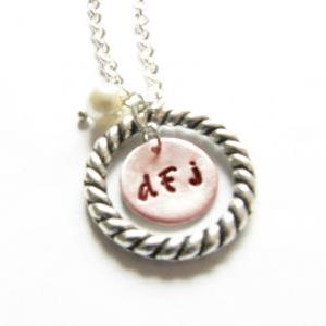 Personalized nitial Necklace Hand S..
