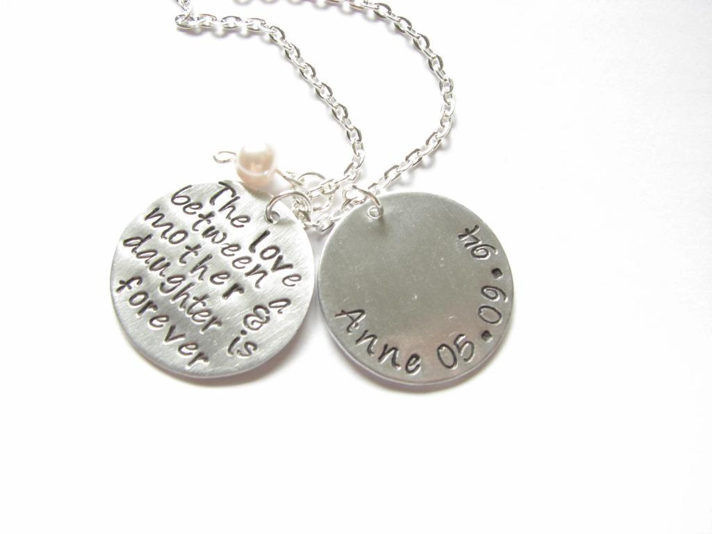 Mother daughter son necklace hand stamped custom personalized mother daughter son necklace hand stamped custom personalized pendant jewelry brass or copper aluminum silver aloadofball Gallery