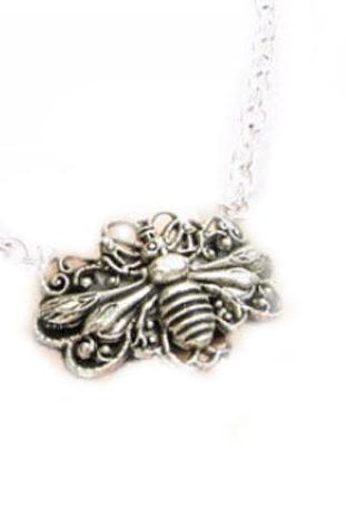Large Bee Filigree Necklace